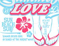 T-Shirt Graphic T恤圖像設計 (Summer Love)