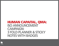 Human Capital Division, QMA, ISO Announcement Campaign