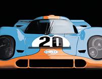 Porsche 917 K (Gulf) - Drawing