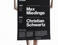 Neue Haas Grotesk - Type Specimen Poster