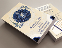 Wedding Invite: Navy & Ivory