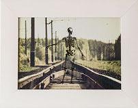 Skeleton on Train Tracks
