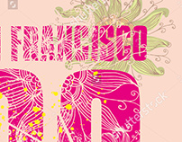 San Francisco graphic design vector art EPS+JPEG