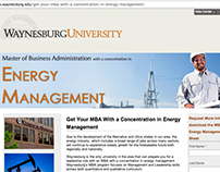 Landing Page - Energy Management MBA