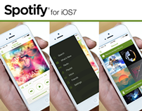 Spotify iOS7 Redesign