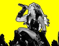 """The Queen Bey"" Beyonce tribute concert poster"