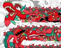 Red Textile Design