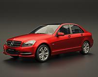 Mercedes C-Class Studio Rendering