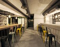Exterior / Interior renderings of Burger Joint CG
