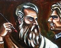 Titian by Pallominy oil on wood panel October 2013