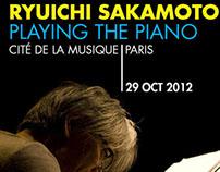 affiche du concert sakamoto