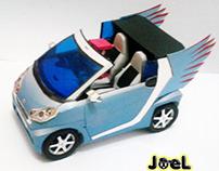 Smart Cabrio (Smart for Jeremy Scott) - Papermodel