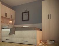 Bedroom interior visualisation
