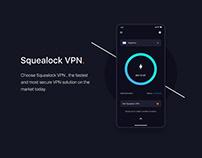 Squealock VPN UI/UX Design