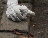 """I'm a Dog"", wire, fabric, glue, silicone, 2011"