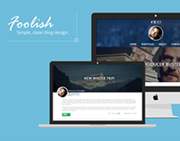 Foolish - Blog Design