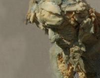 Sculpture, 2011, sponge, duvet