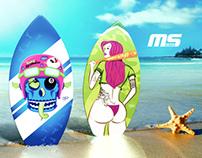 MS Minisurf Skimboard (3D)