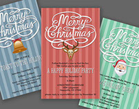 Christmas Party Invitation - Customized Printable File