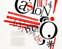 Caslon Poster