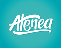 Atenea - Brush pen lettering logo