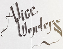 Calligraphic Alice Wonders