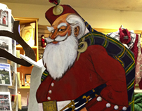 """Kilted Santa"" Christmas Shop Display"
