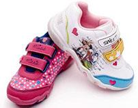 Projekty bucików na licencjach Disney. Stylizacja.