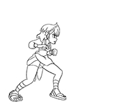 Indivisible 2D animation kick test