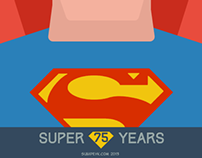 Superman 75 Years flat icon