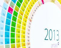 Wall Calendar 2013 for Antalis