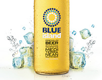Blue Island beer / Flocafé Menu ad