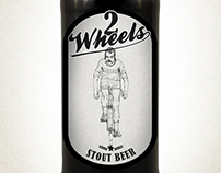 Two Wheels Beer packaging project.