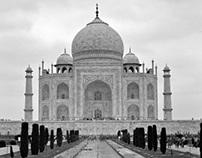 The Taj - In monochrome