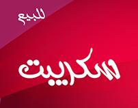 Arabic Script Font   خط سكريبت