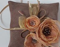 Vintage Style Wedding Ring Pillows