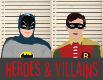 Heroes & Villains - Vector Illustration