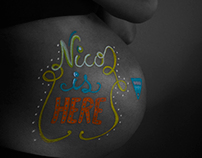 Dibujo corporal / Embarazada