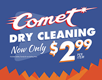 Comet Cleaners - Price Change Boards