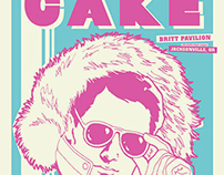 "CAKE ""shades"" concert poster - Jacksonville, OR"