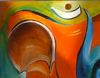 Vinayaka - Painting/Acrylic on Canvas Board