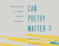 """Can Poetry Matter?"" Event Poster"