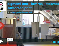 VIDEO: pigmenti - silkscreen project / tshirt & poster