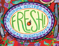 """FRESH! Seasonal Recipes with Local Ingredients"" book"