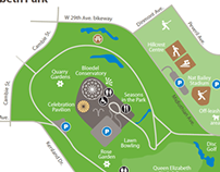 Map of Queen Elizabeth Park