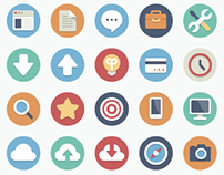 180 FREE Flat Icons