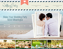 Wedding Party-Website Template Design