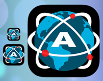Atomic Web Browser App Icon — iOS 7 Flat Style
