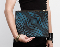 ILLUSION LEATHER CLUTCHES