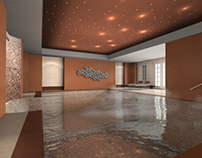 Indoor luxury swimming pool